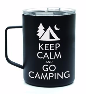 Oztrail Double Wall Stainless Mug Keep Calm & Go Camping