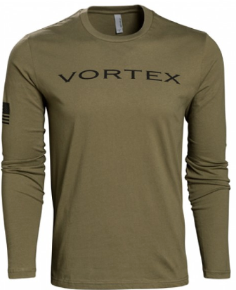 Vortex Olive Long Sleeved T shirt
