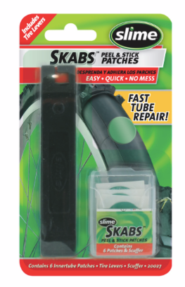 Slime SKABS Peel & Stick Patches with tyre levers