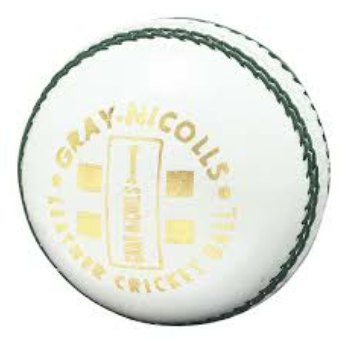 Gray Nicolls Club 2 White Red Leather Cricket Ball 156gram