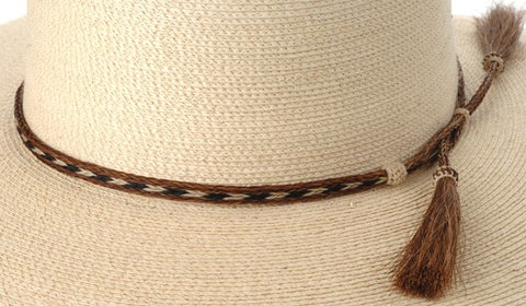 Sunbody 3 Strand Horse Hair Hat Band