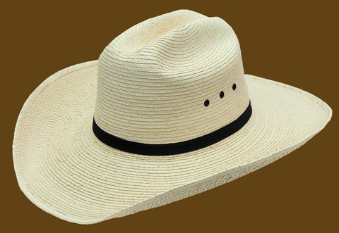 Sunbody 4 Inch Brim, Low Crown Cattleman, Guatemalan Palm Hat