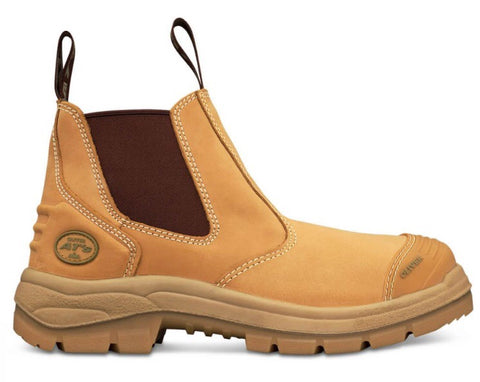 Oliver 55322 Elastic Sided steel Toe Boot - Wheat