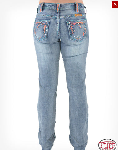 Cowgirl Tuff Ladies Beach Bling Jeans
