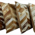 Cow Hide Chevron hairon Cushion Covers