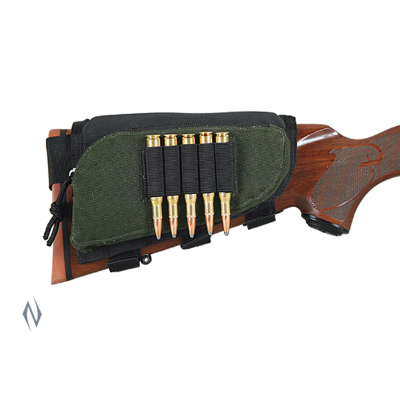 Allen Buttstock Rifle Shell Holder with zip pouch