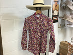 Just Country LadiesGeorgie Floral Pattern Shirt 1/2 Button