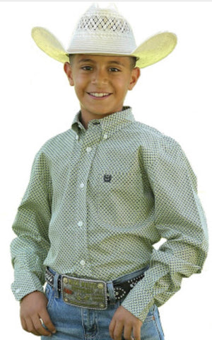 Cinch Boys Patterned Shirt