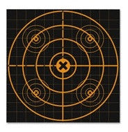 "Birchwood Casey BBSI-25 Big Burst 12"" Sight-In - 25 Targets, 25 Sheet Value Pack"