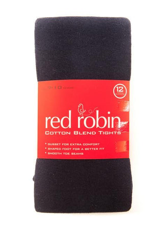 Red Robin cotton blend tights - black