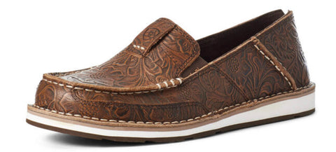 Ariat Ladies Brown Floral Embossed Cruiser