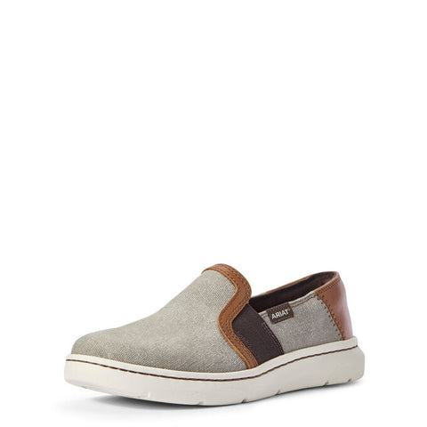 Ariat Ladies Ryder Classic Grey Canvas Slip On