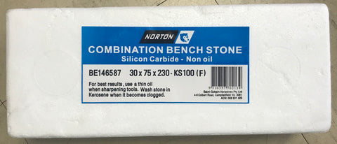 Norton Combination Bench Stone 30x75x230mm
