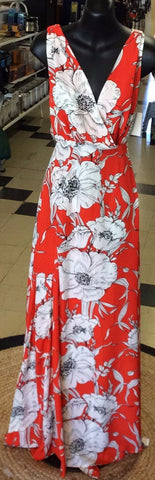 Ebby & I Ladies Orange Floral Dress
