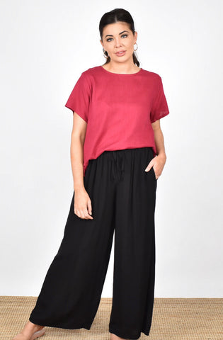 Adorne Ladies Billy Wide Leg Pants