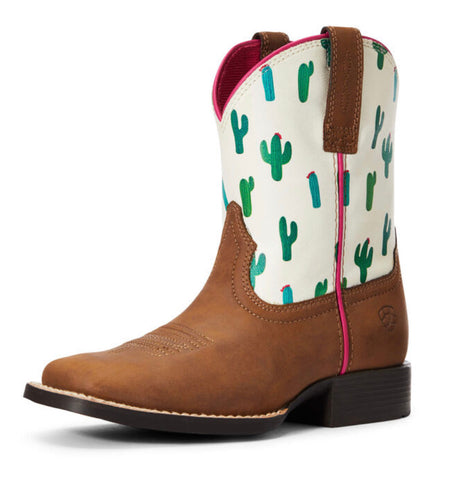 Ariat Girls Dinero Dark Cactus Print Boot