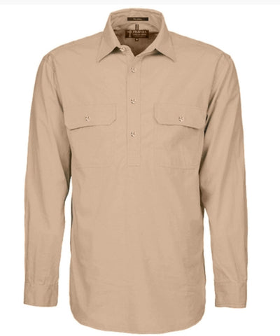 Pilbara Collection Mens Closed Front Long Sleeved Shirt by Ritemate