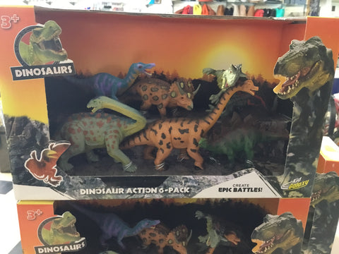 Dinosaurs Action 6 Pack