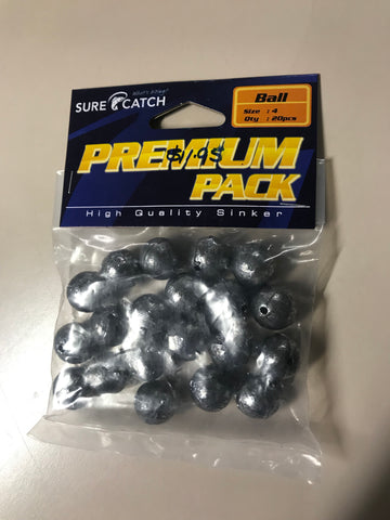 Sure Catch 4 Ball Premium Lead Sinkers 20 pack