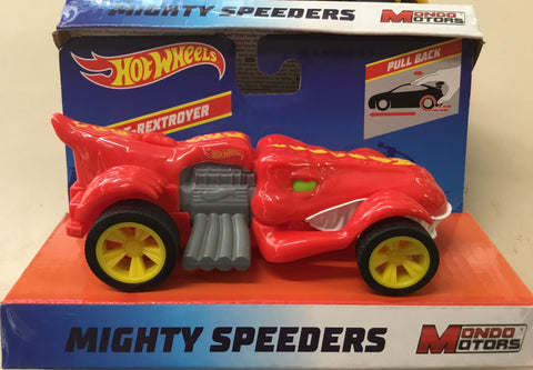 "Hot Wheels 5"" Mighty Speeders Pull Back T-Rextroyer"