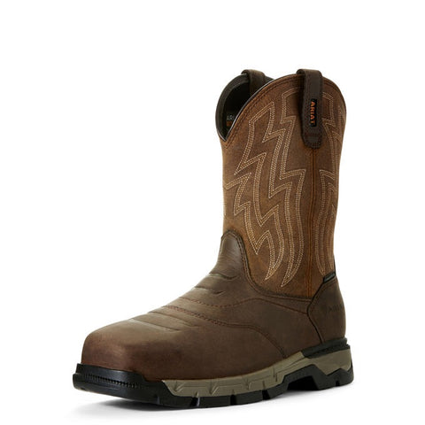 Ariat Mens Rebar Flex Western Brownwicker