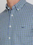 RM Williams Mens Jarvis Checked Shirt Green / White / Royal