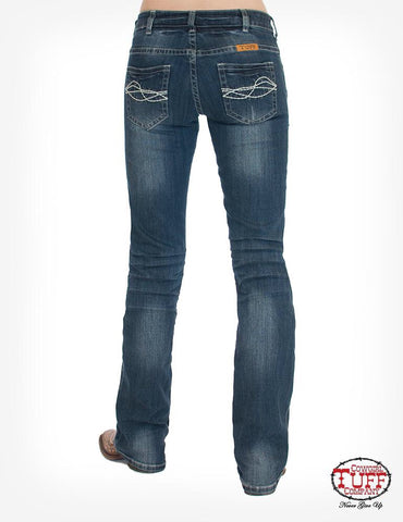Cowgirl Tuff Ladies Classic Mustang Natural Waisted