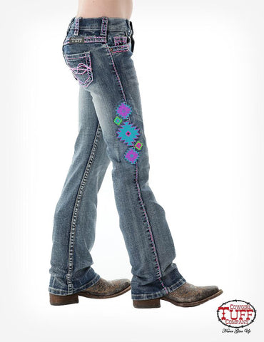 Cowgirl Tuff Girl's Aztec Jeans