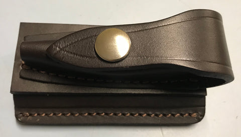 Leather horizontal knife pouch 9cm small