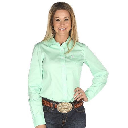 Cinch Ladies Mint Green Button Up Shirt