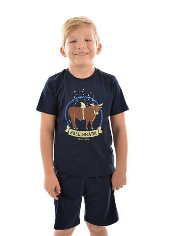 Thomas Cook Boys Bull Shark Glow in the Dark PJ's