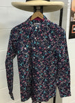 Just Country Ladies Abbey Full Botton Navy Floral Pattern shirt