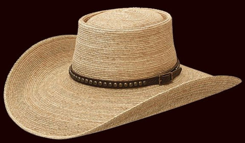 Sunbody Oak Elko Hat with old west band