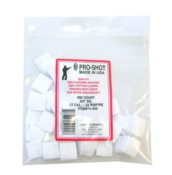Pro Shot Square Patches 500 Pack