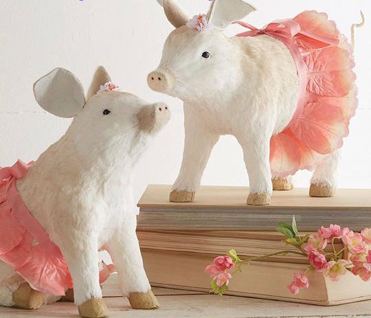 "Seasons and Decor -19"" pig in Tutu"