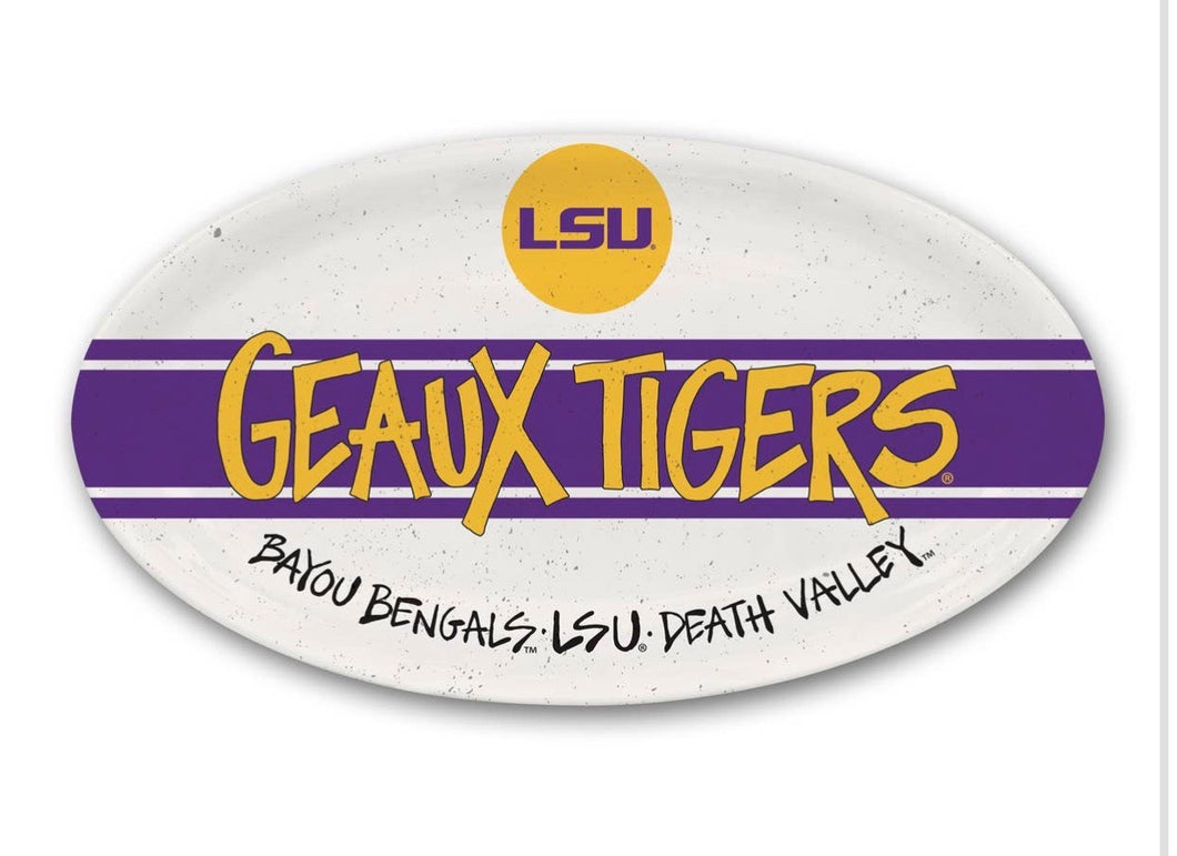 Collegiate- LSU Oval platter