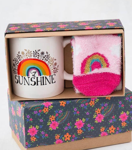 Mug-sunshine with rainbow footie