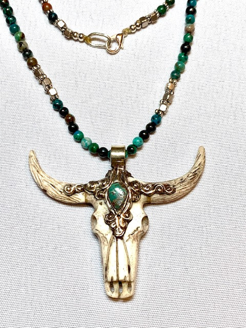 Jewelry- Stone & Bone Necklace