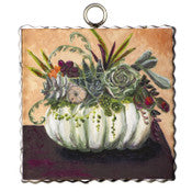 Round Top Gallery Mini Cream pumpkin and succulent print