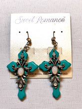 Jewelry- Sweet Romance Opal Cross Earrings