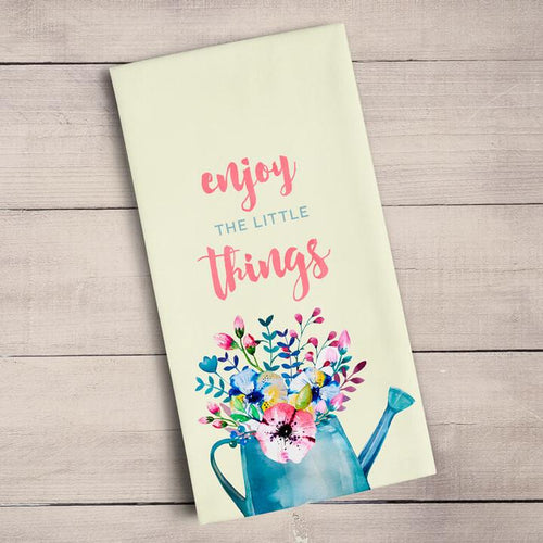 Tea Towel- enjoy the little things towels