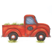 Round Top- Red Pick Up Truck