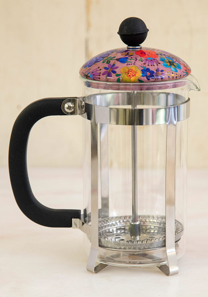French Press- Lavender Floral