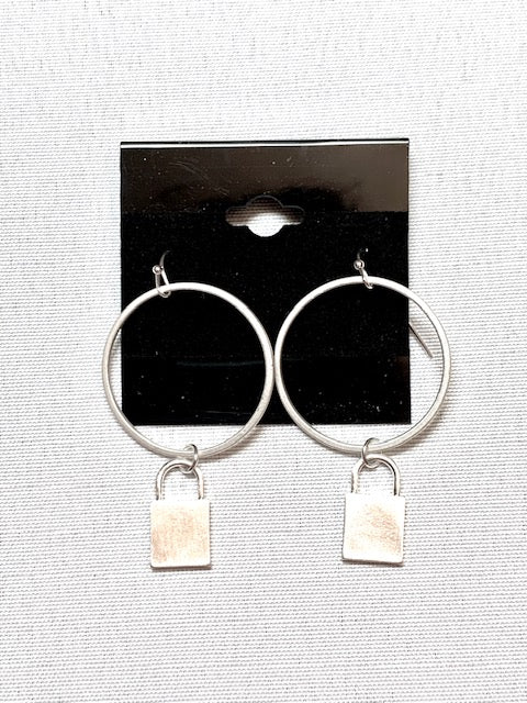 Jewelry- Silver Locket Earring
