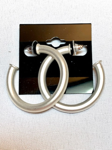 Jewelry- Satin Silver Earrings