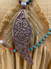 Jewelry- Feather Pendant on Beaded Strand