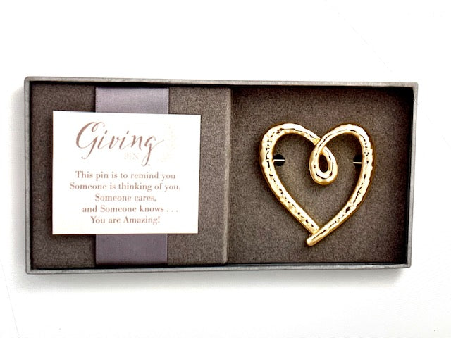 Jewelry- Giving Gold Heart Pin