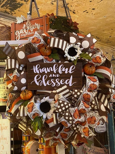 Wreath- Thankful and Blessed