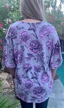 Top- Purple/Grey Floral