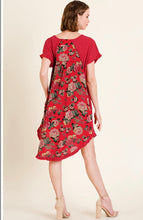 Dress- Red with Floral Back